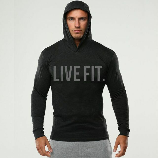 Men live thin hoodies long sleeve solid hoodies sweatshirt for Thin long sleeve t shirts