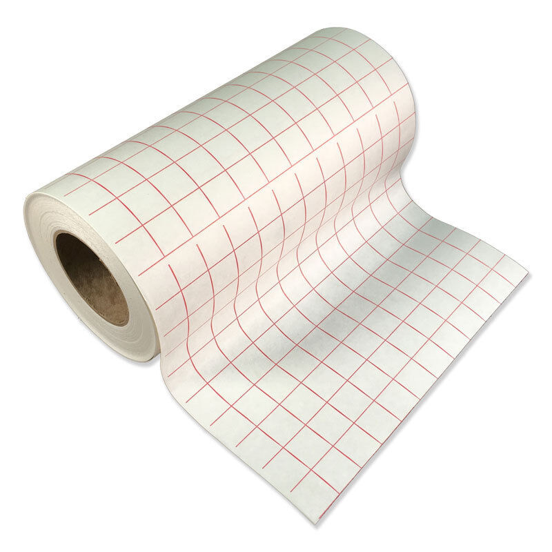 5 rolls 12 x5 39 transfer tape roll lined w red grid for Plastic grid sheets crafts