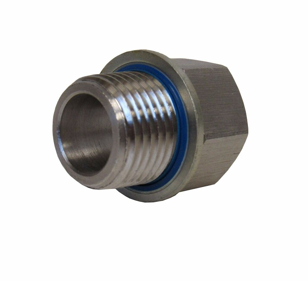 New stainless adapter quot npt female bspp male