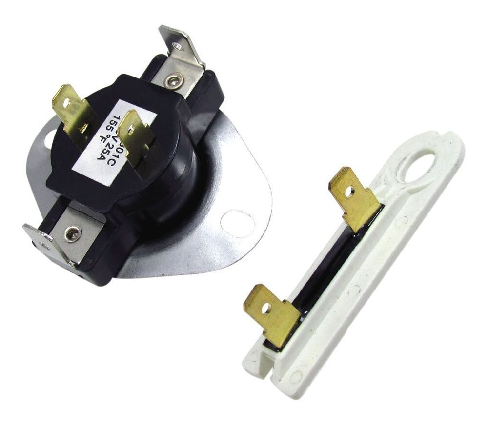 New Dryer Cycling Thermostat Whirlpool Maytag Kenmore Thermal Fuse Internal