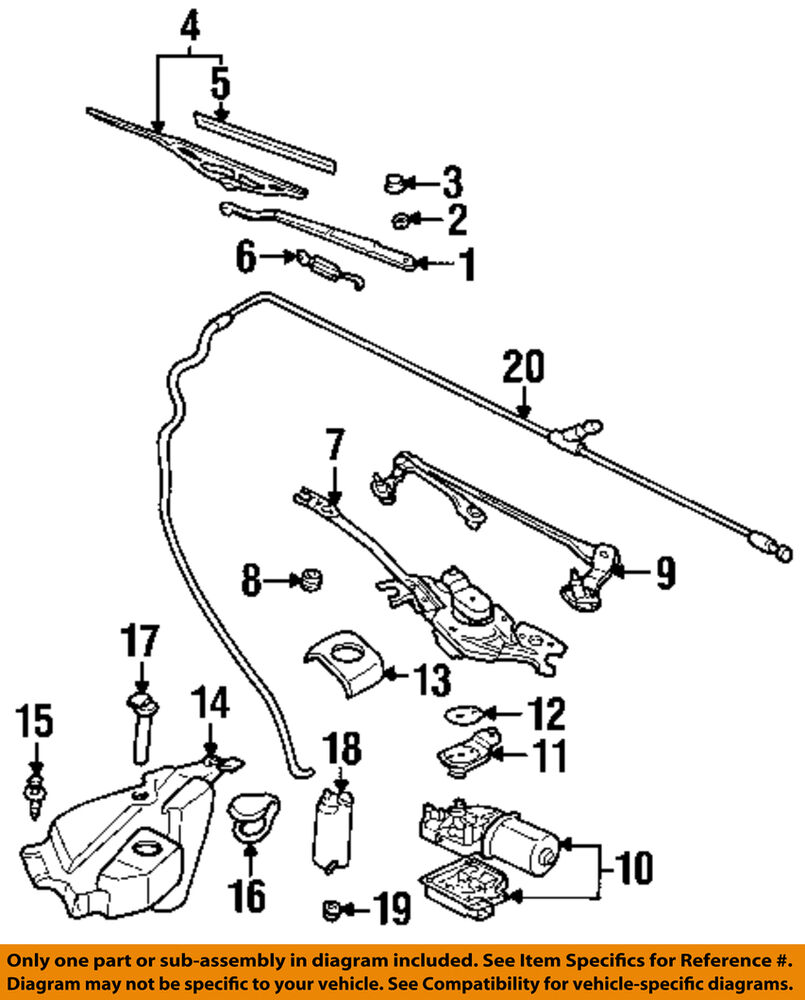 Gm Oem Windshield Wiper Motor 88958395 Ebay 3100 V6 Engine Diagram