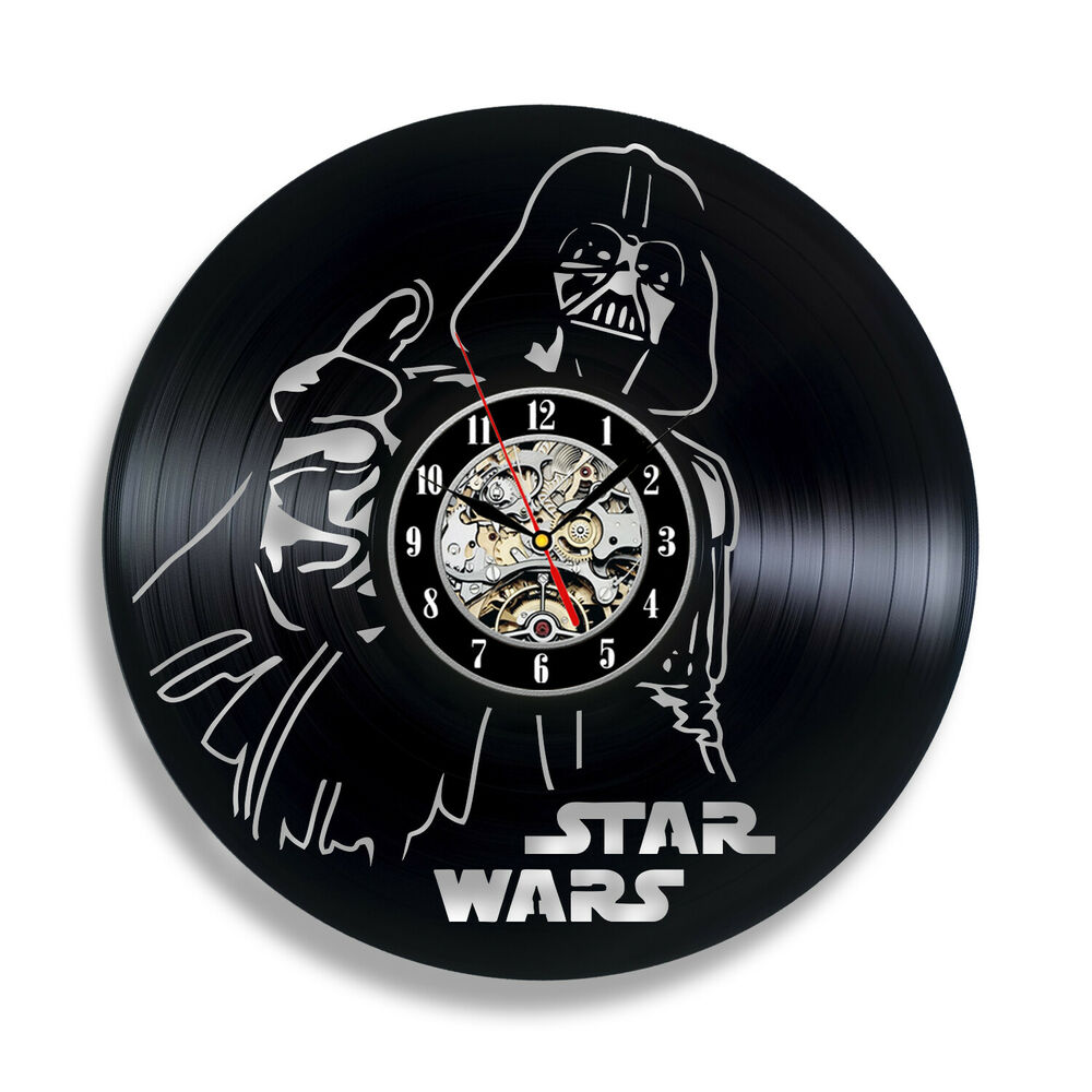 38b4a4c02d3 Details about Darth Vader Imperial Army Star Wars Wall Clock Stormtrooper  Yoda Gift Movie