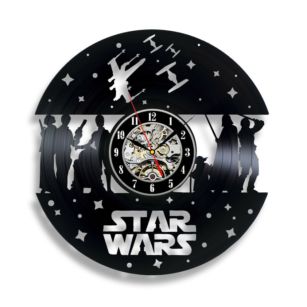 Darth Vader Star Wars Boba Wall Clock Fett Yoda Luke