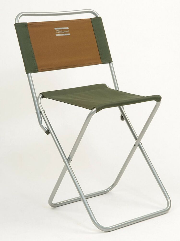 Shakespeare Folding Strong Canvas Fishing Chair With Back