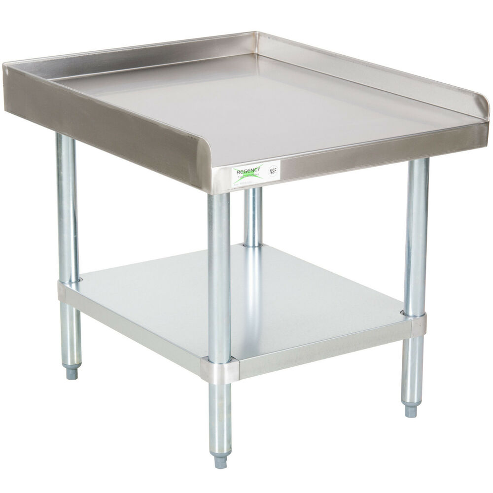 New regency 30 x 24 stainless steel work prep table for Stand commercial