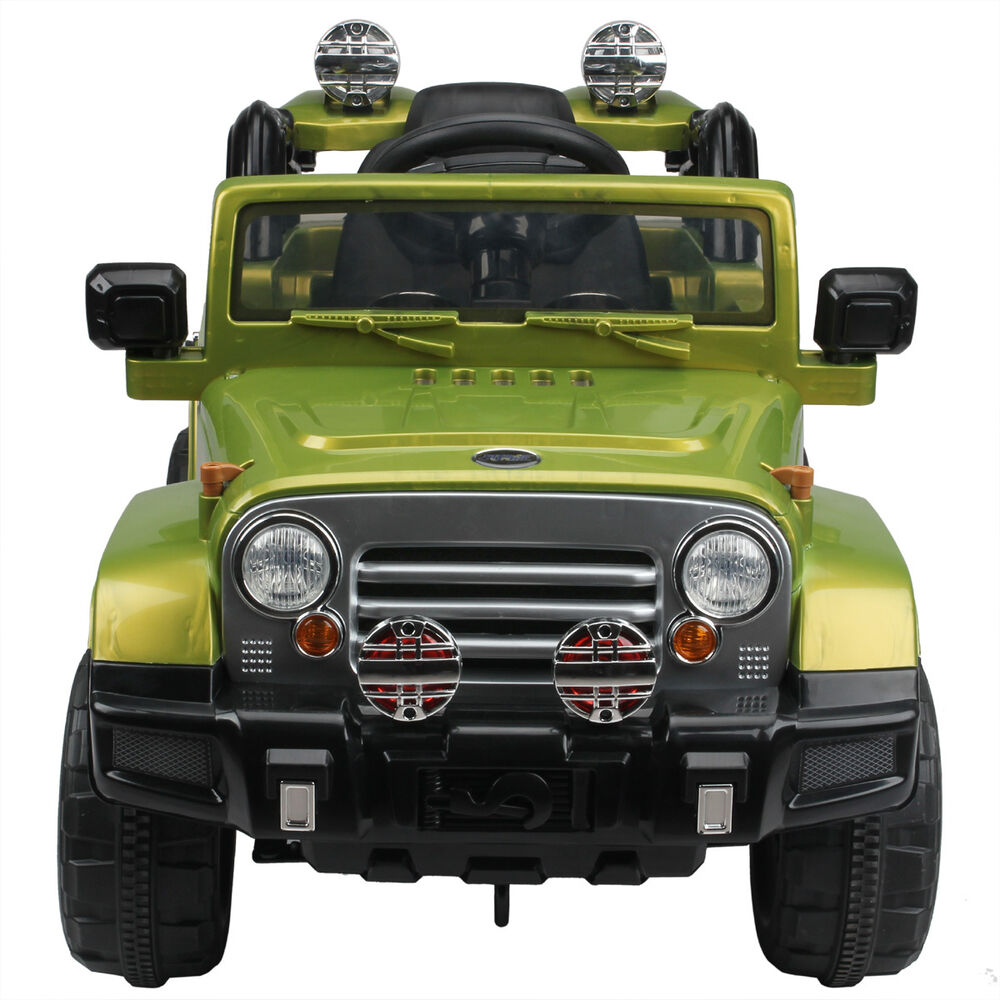 12v jeep style kids ride on battery powered electric car wremote control green