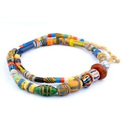 Premium Glass Mixed Trade Beads 14mm Ghana African Multicolor Large Hole