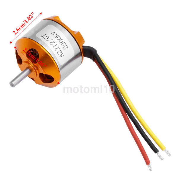 A2212 Brushless Outrunner Motor 2200KV for RC Quadcopter/Airplane Accessories US