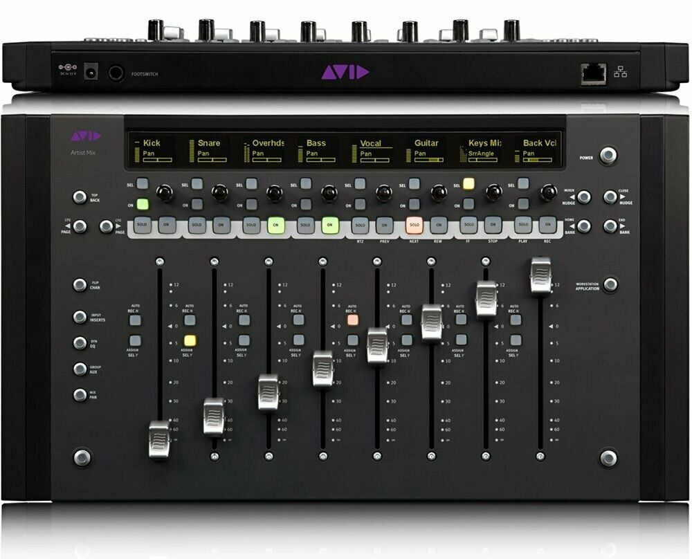 Avid Artist Mix Ethernet Control Surface Eucon Works W Pro Tools