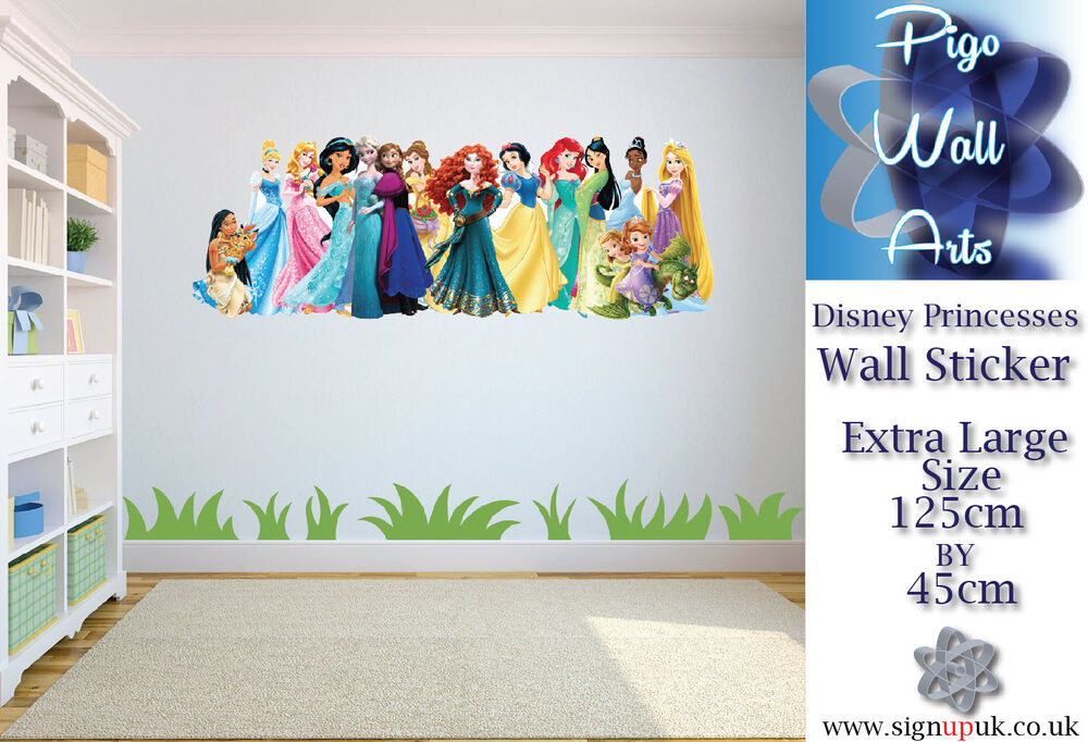 Disney Princesses Wall Sticker Childrenu0027s Bedroom Large Girls Wall Decal. |  EBay Part 85