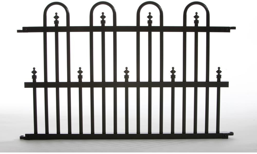 Aluminum Fence Panel Above Ground Decorative Outdoor Yard