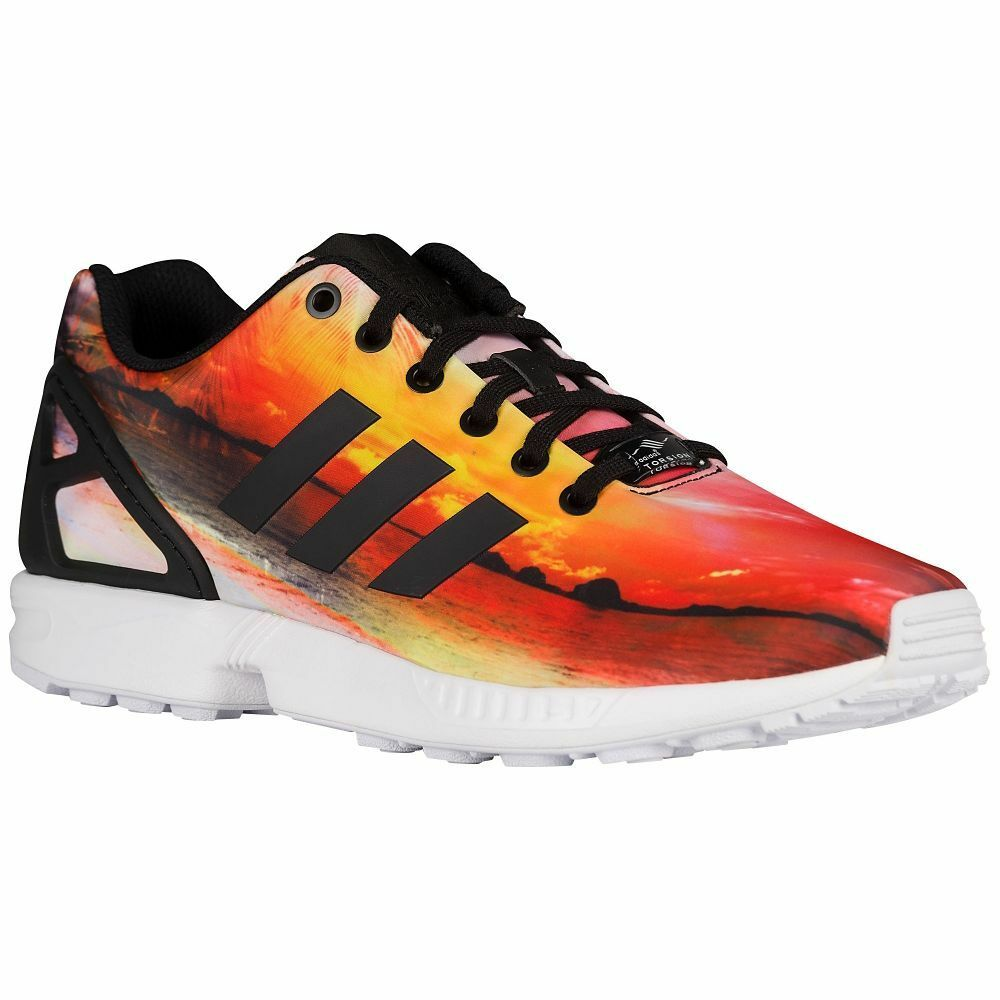 40860fba98b54 Details about Mens ADIDAS ORIGINALS ZX FLUX Sunset Palm Tree Trainers AF5308