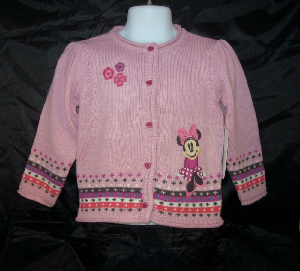 Details about Disney Baby Minnie Mouse Knit Pink Sweater Cardigan Infant 18-  24 months NEW a6868c442