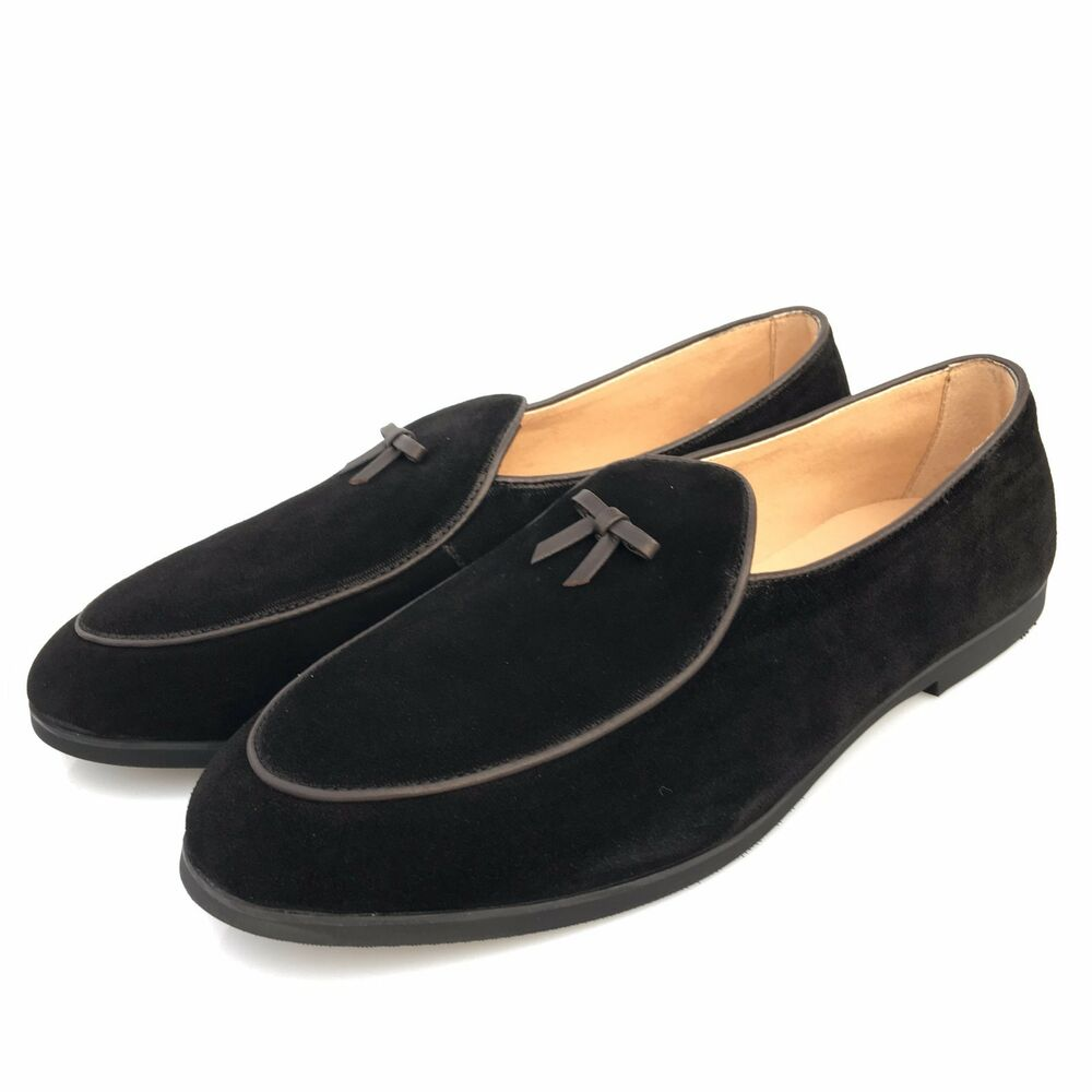 handmade leather dress shoes prom loafers slippers