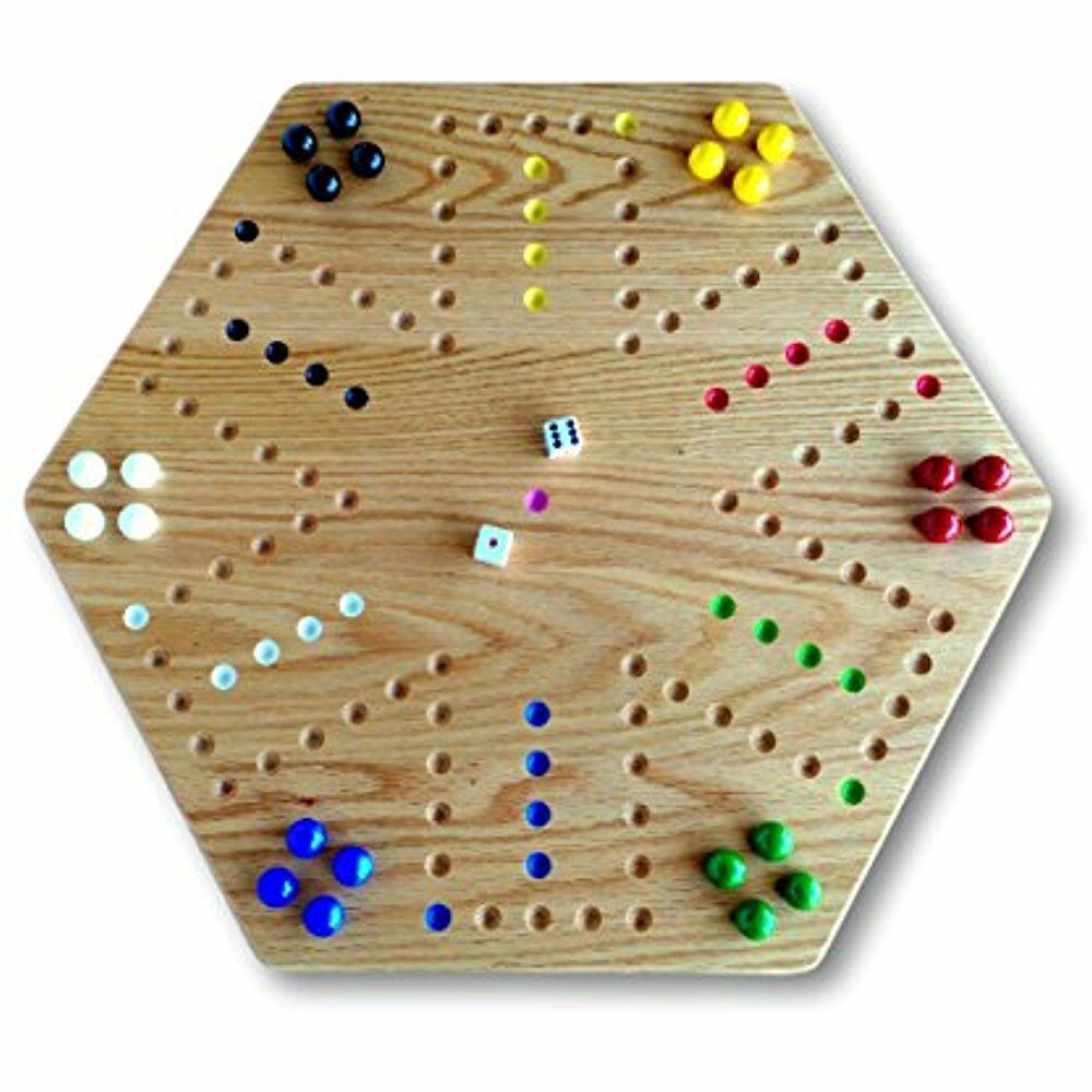 Wood Board Games ~ Board games oak hand painted quot wooden aggravation