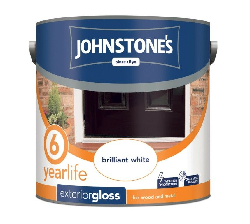 Johnstones Exterior Gloss Brilliant White Paint For Wood And Metal In 750ml 2 Ebay