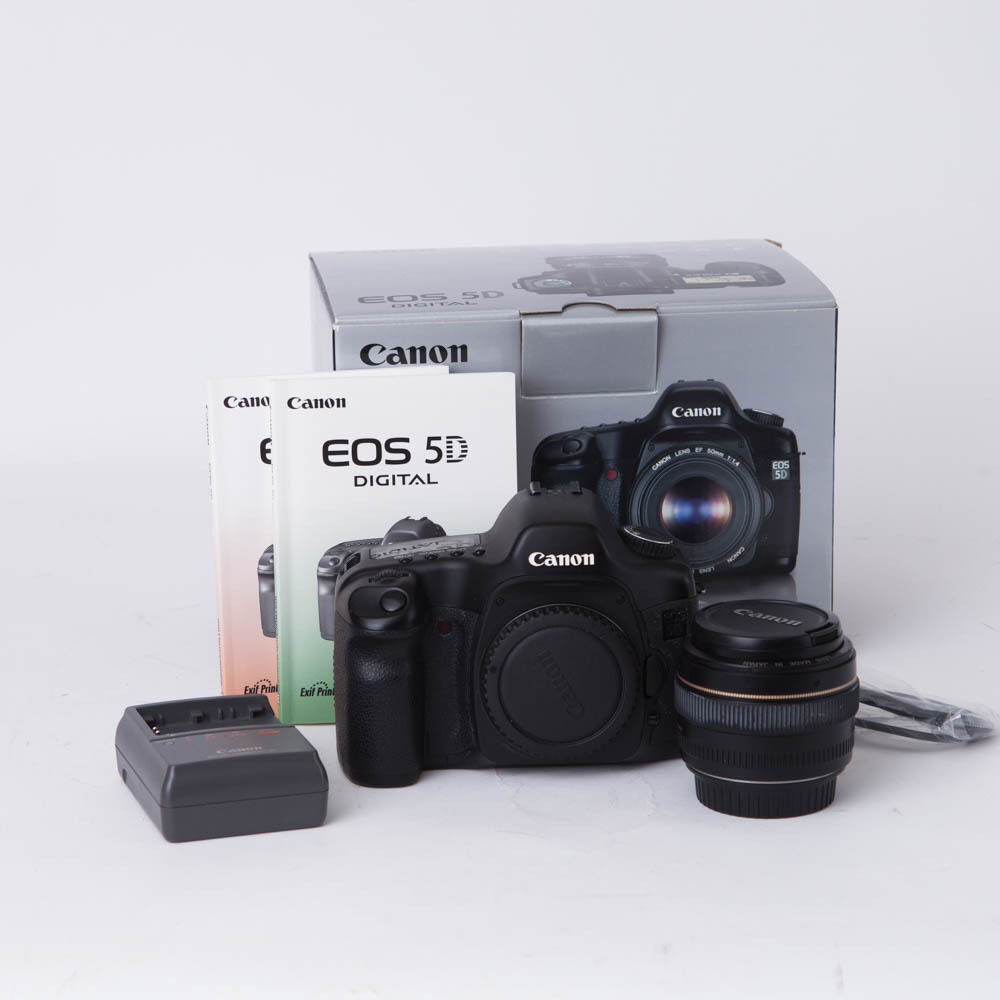 Canon eos 5d camera w canon ef 50mm f 1 4 usm lens 5d 12 for Canon eos 5d full frame