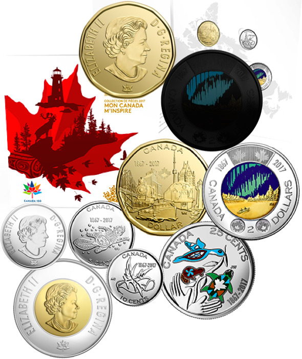 Canada 150 Small Home Designs: 2017 Canada 150th Birthday Uncirculated 5-Coin Collector