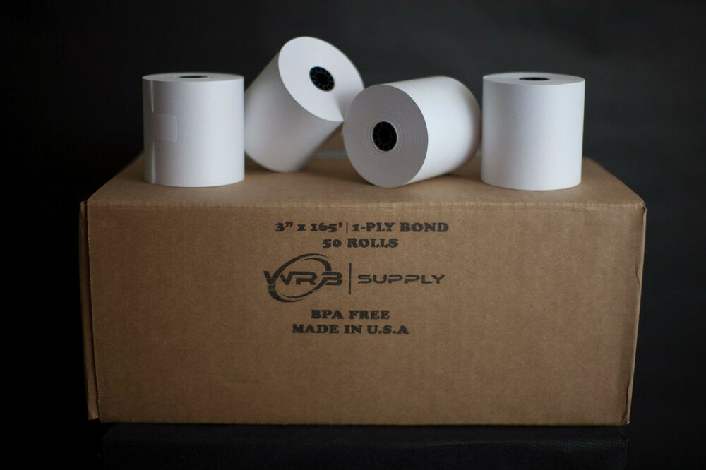 1 Ply Kitchen Printer Paper Bond 3 Quot X165 50 Rolls Ebay