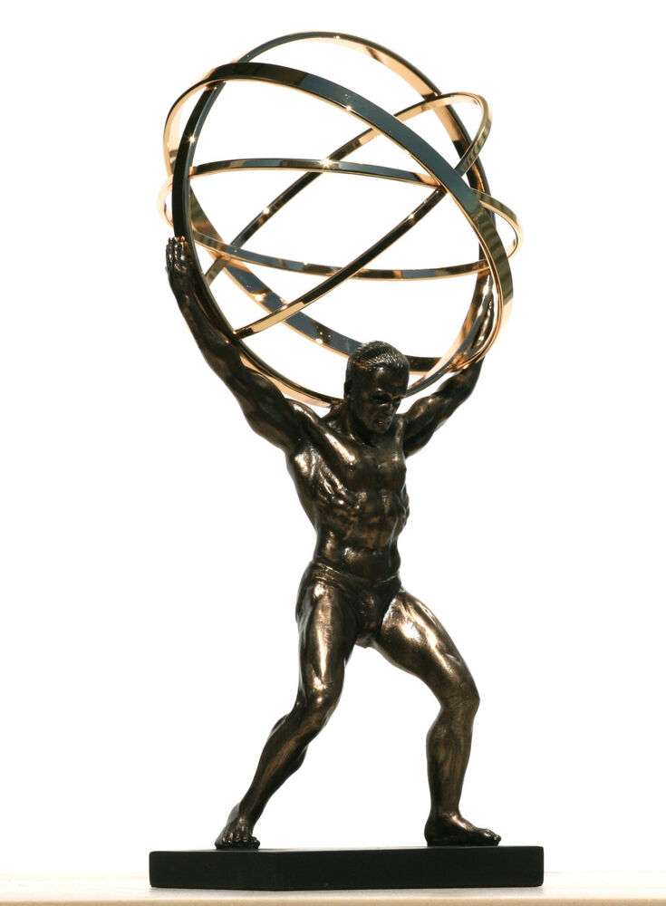 Sculptural Spheres Crazy Wonderful: ATLAS TITAN Celestial Sphere Greek God Statue Sculpture