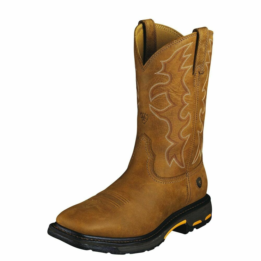 """Ariat 10005887 Workhog 11"""" Pull On Wide Square Toe ..."""