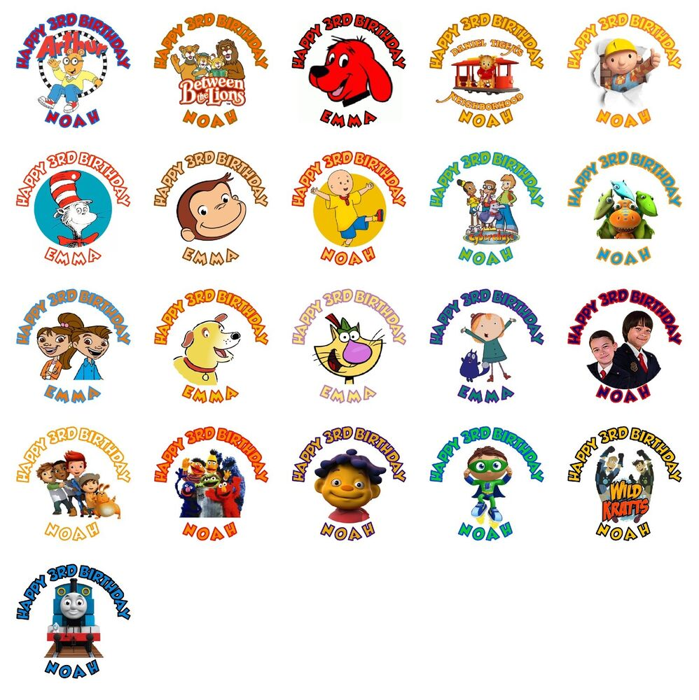 30 Pbs Kids Birthday Stickers Lollipop Labels Party Favors 15 In