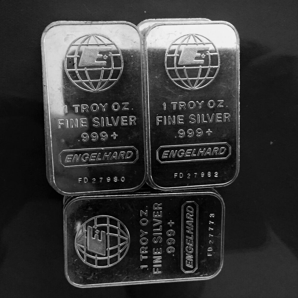 Engelhard 1 Troy Ounce Oz 999 Fine Silver Bar Serial