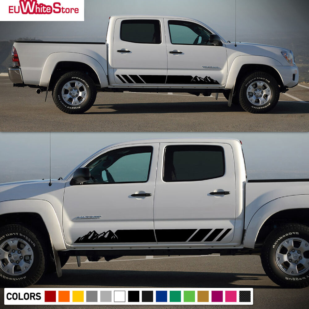 Details about decal sticker vinyl side stripe kit for toyota tacoma 2004 2017 flare light door