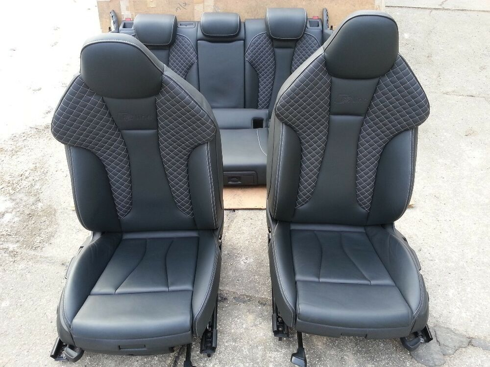 audi a3 8v sportback lederausstattung ledersitze leder sitze seats recaro s3 ebay. Black Bedroom Furniture Sets. Home Design Ideas