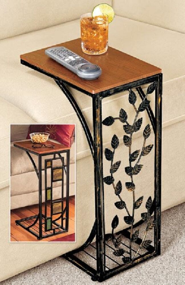 Sofa Side Table Geometric Or Drop Leaf Side Easy Storage