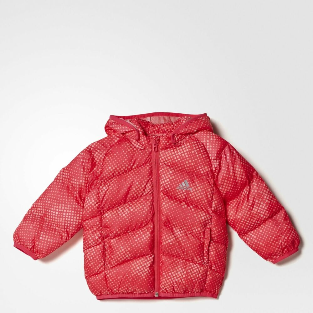 7719a199ca72a adidas baby girls pink padded coat. Infants coat. Infant jacket. Various  sizes!