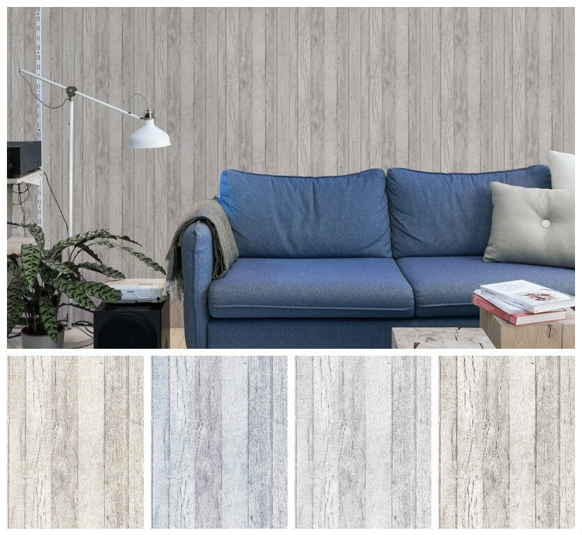 vlies tapete antik holz beige braun blau creme grau shabby ebay. Black Bedroom Furniture Sets. Home Design Ideas