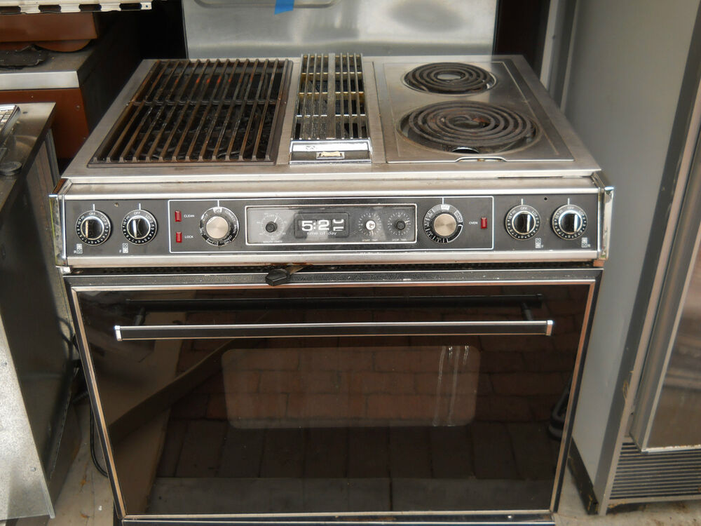 Drop In Gas Oven Jenn air s125 downdraft range with grill unit | eBay