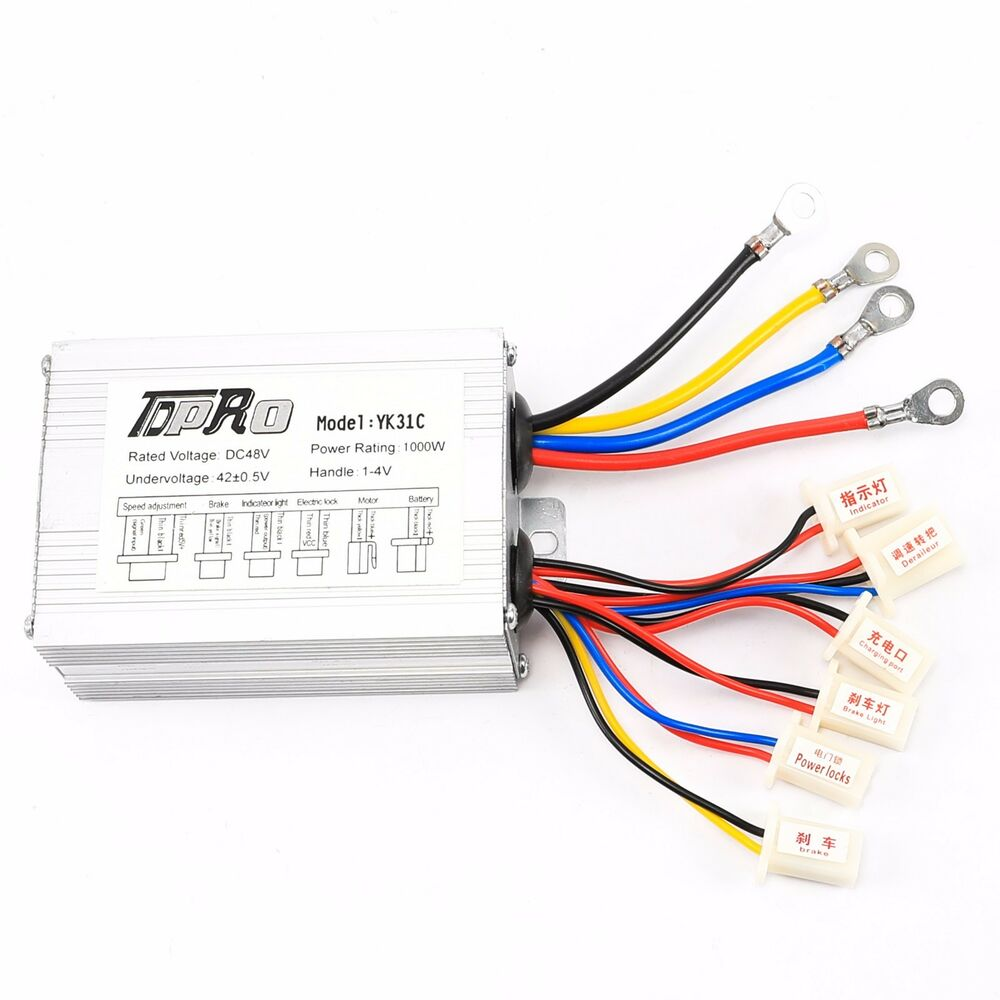 48 volt 1000w 48v brush electric bicycle speed controller for Electric bike motor controller