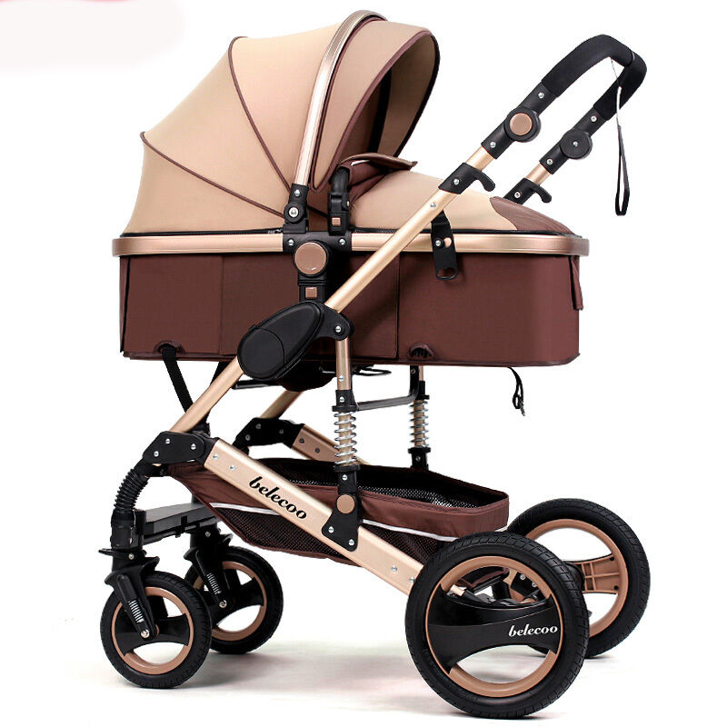 Luxury Baby Stroller Newborn Carriage Infant Travel Car Foldable Pram Pushchair Ebay