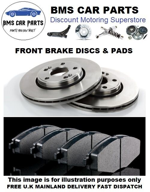 ford mondeo mk3 2001 2007 front brake discs and brake pads set new ebay. Black Bedroom Furniture Sets. Home Design Ideas