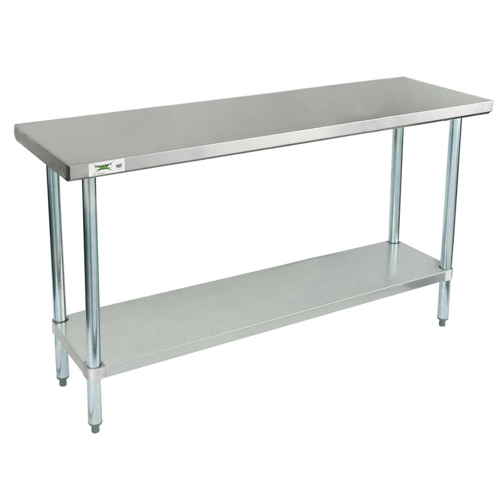 Regency 18 x 60 stainless steel work prep table for Table cuisine annee 60