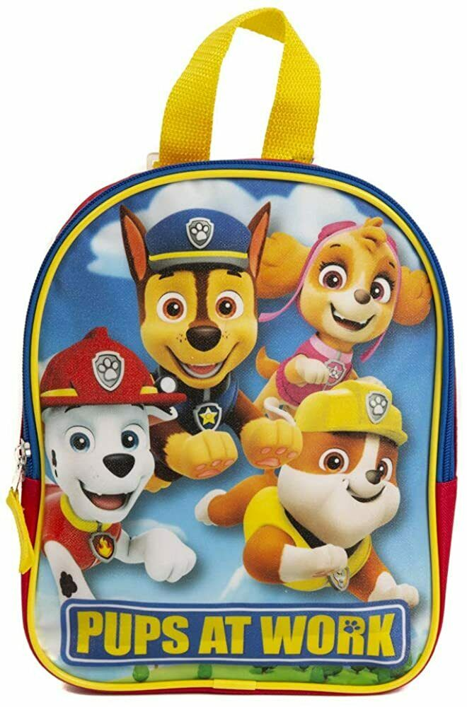 d6a640fd5dd8 Details about Paw Patrol Toddler Backpack Blue Small School Bookbag  Preschool Little Boys Kids