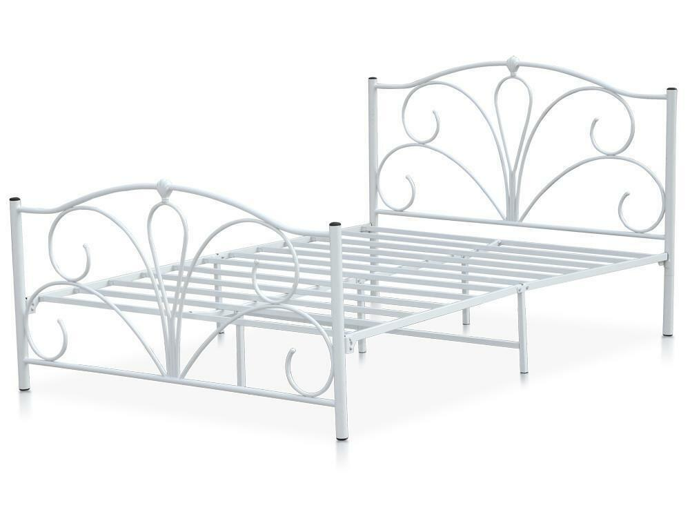 Steel Bed Frames Queen Metal Bed Frames Queen Size Extra: Double Metal Bed Frame 4ft6 White Queen Size Double Bed