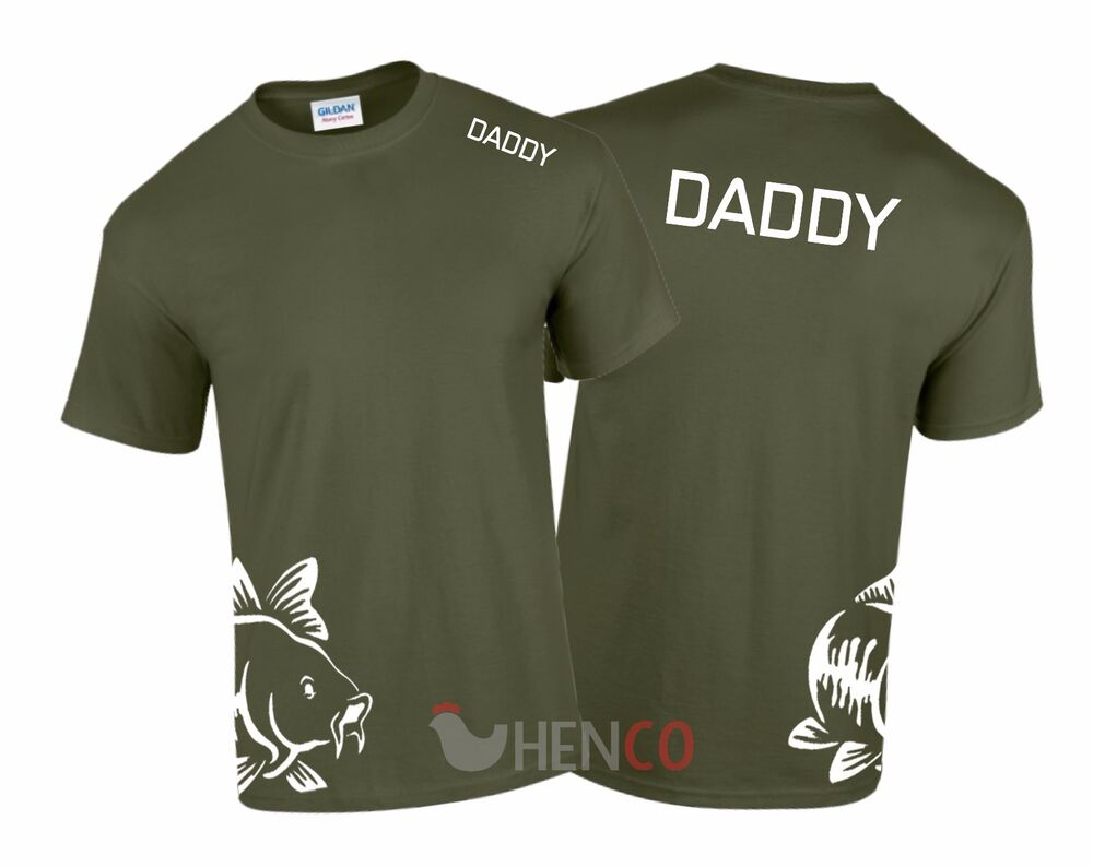 Daddy Fishing T-Shirt Men's Carp Fishing clothing boilies ...