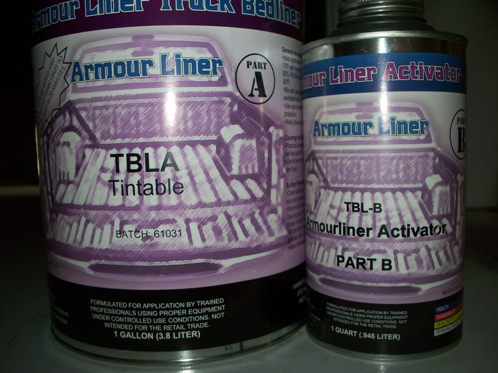 1 Liter Liner : Tintable armour liner tbla spray in truck bed