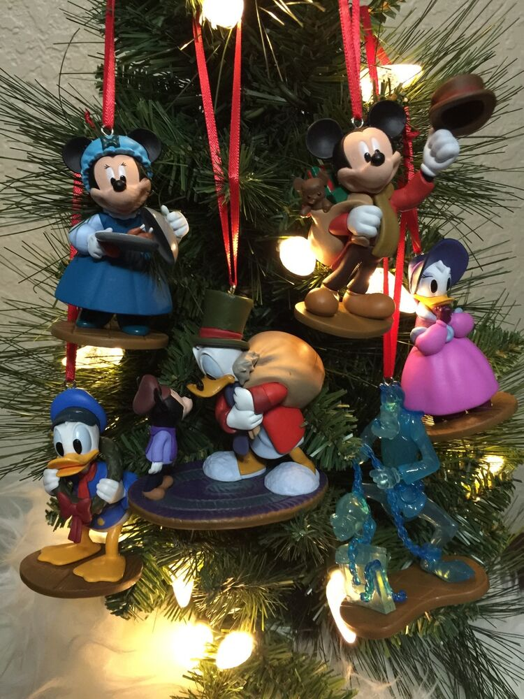Disney Christmas Ornament 6pc Set Mickey Mouse A Christmas ...