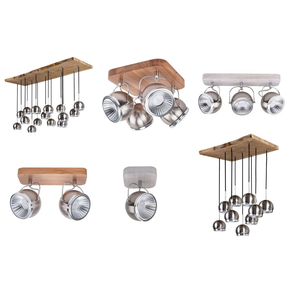 spot light ball wood holz spot strahler deckenstrahler lampe leuchte retro neu ebay. Black Bedroom Furniture Sets. Home Design Ideas
