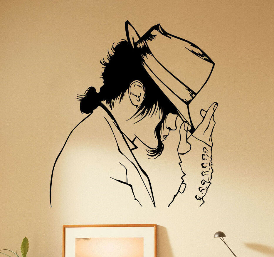 Wall Decorations Michaels : Michael jackson wall decal vinyl sticker king of pop home