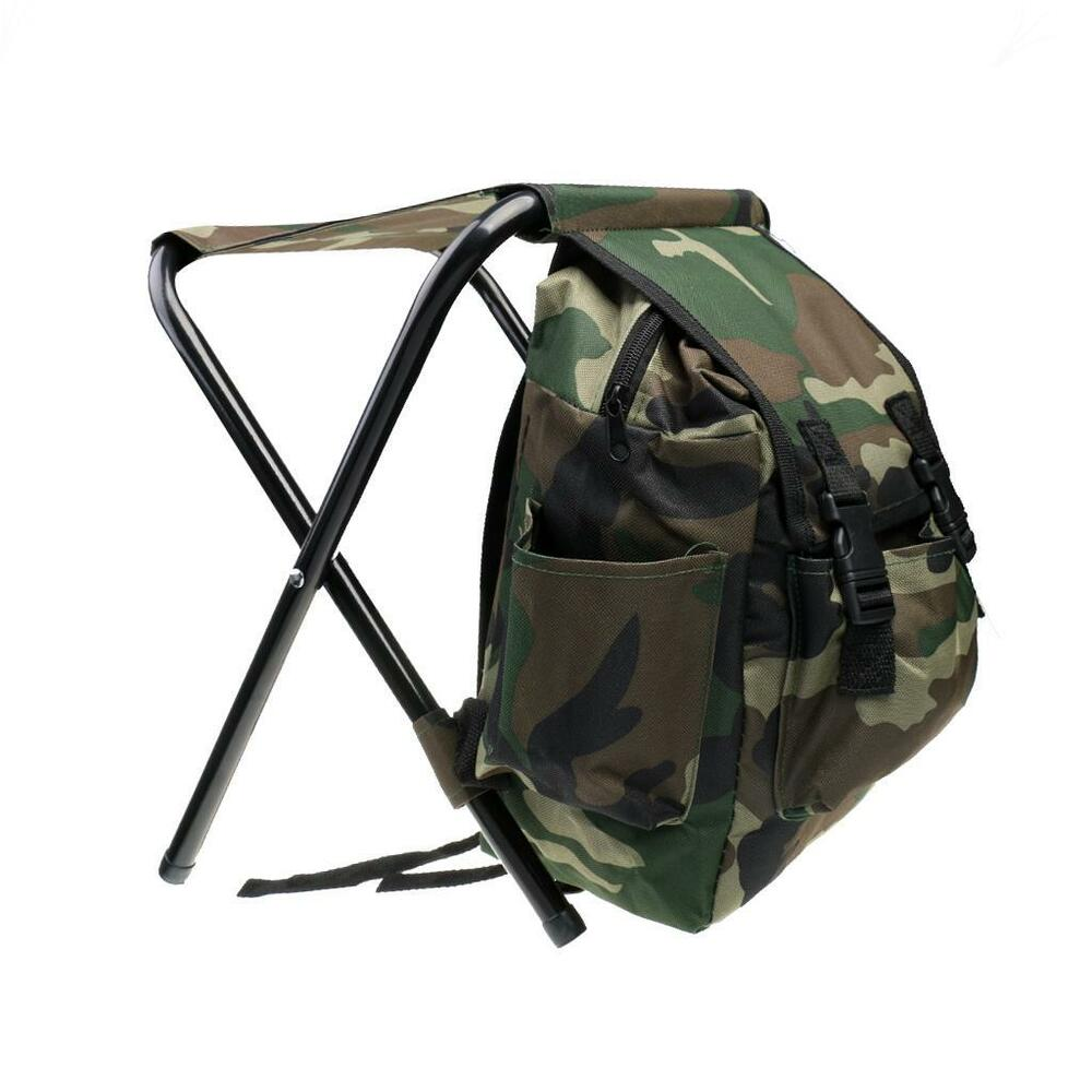 2 In 1 Fishing Stool Tackle Backpack Seat Chair Hunting