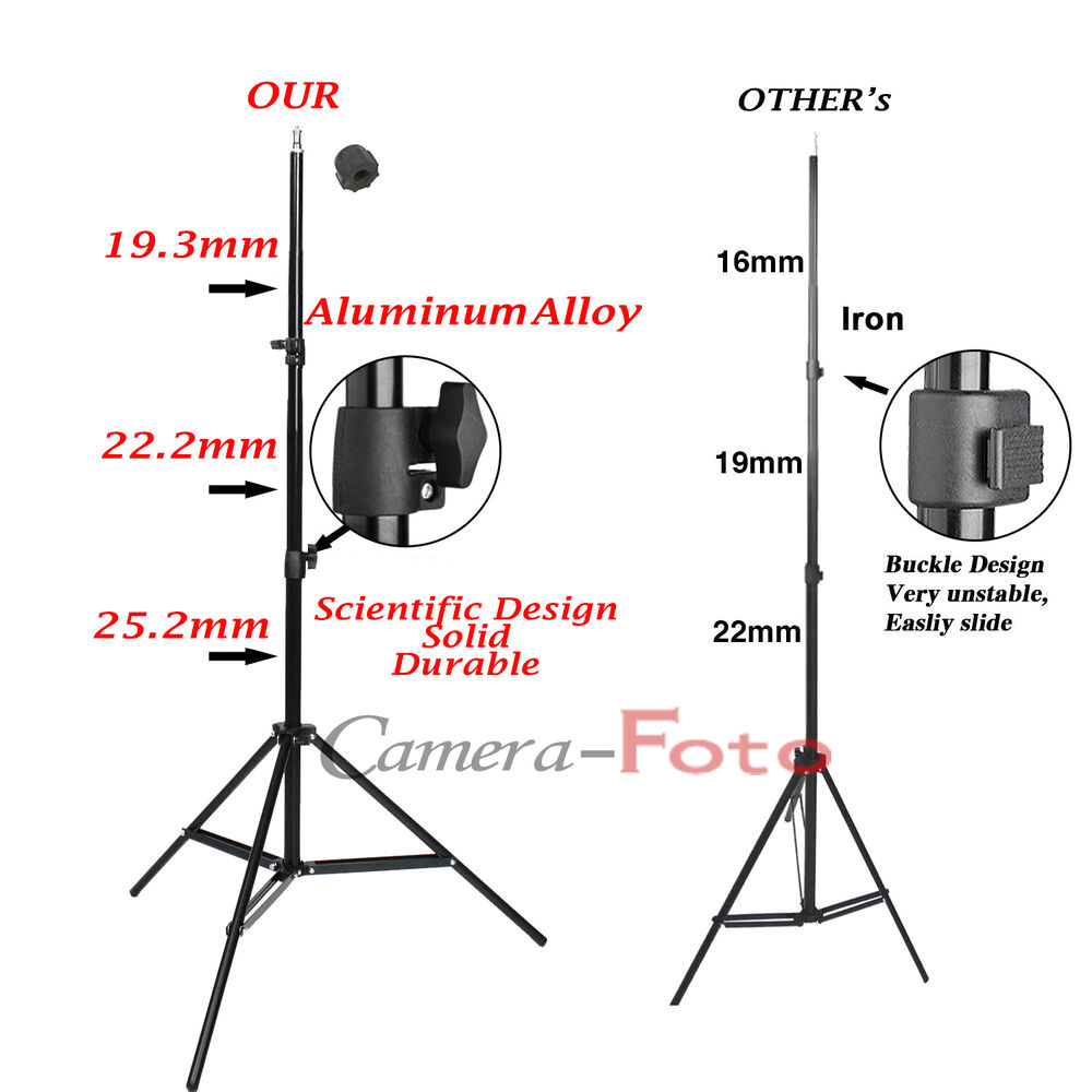 photo studio 2m 7ft light stand adjustable tripod for