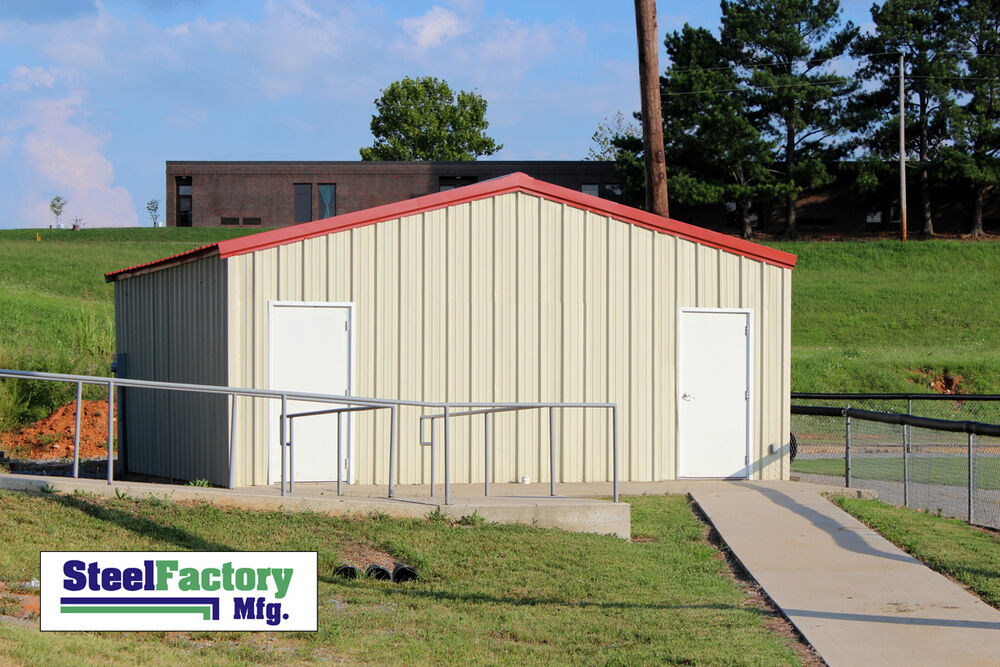 Steel factory mfg prefab 24x30x10 beam frame garage for Diy garage cost