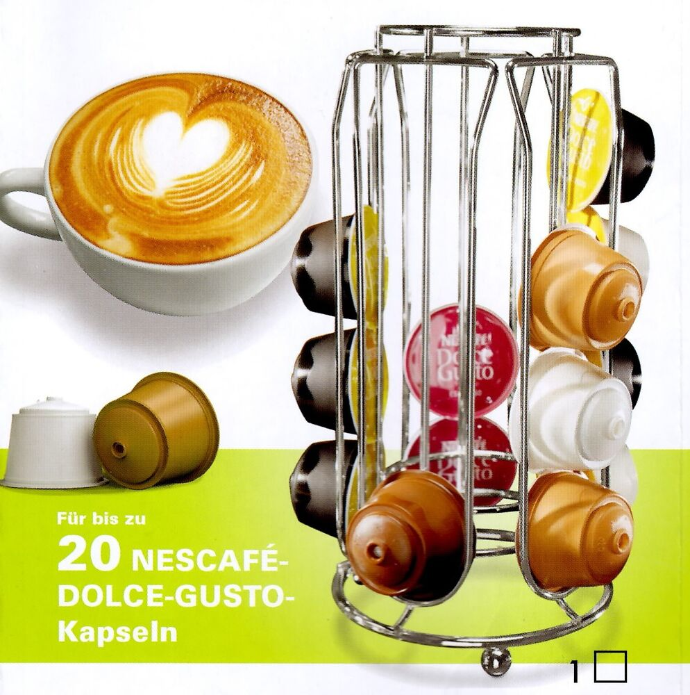 nescafe dolce gusto kaffee kapselhalter kapsel halter spender kapselst nder ebay. Black Bedroom Furniture Sets. Home Design Ideas