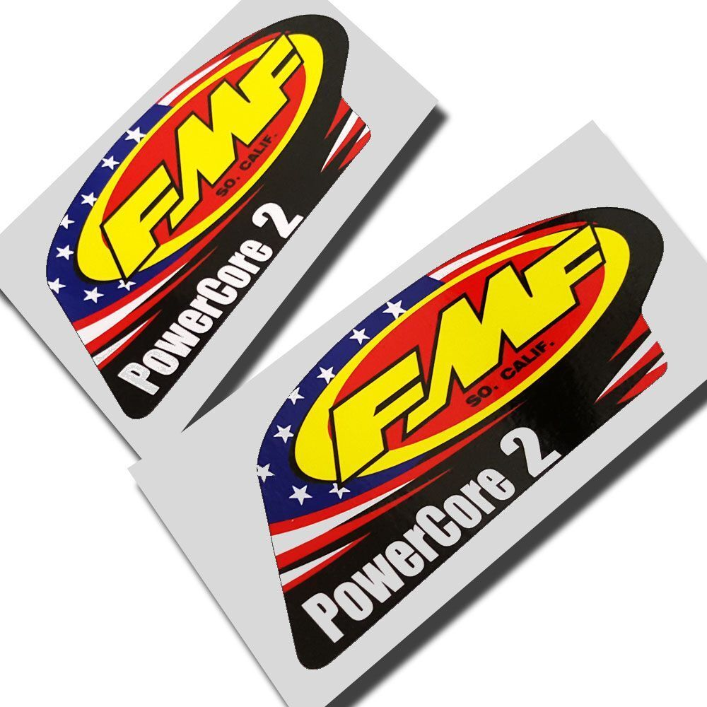 Details about fmf exhausts powercore 2 motorcycle decals graphics stickers x 2 pieces medium