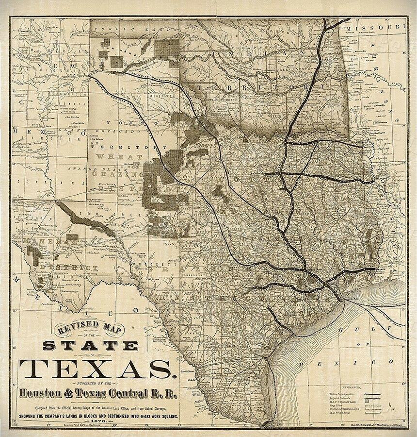 Antique Texas Maps eBay